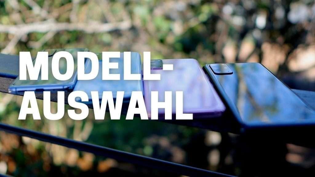 iPhone oder Samsung - Modellauswahl