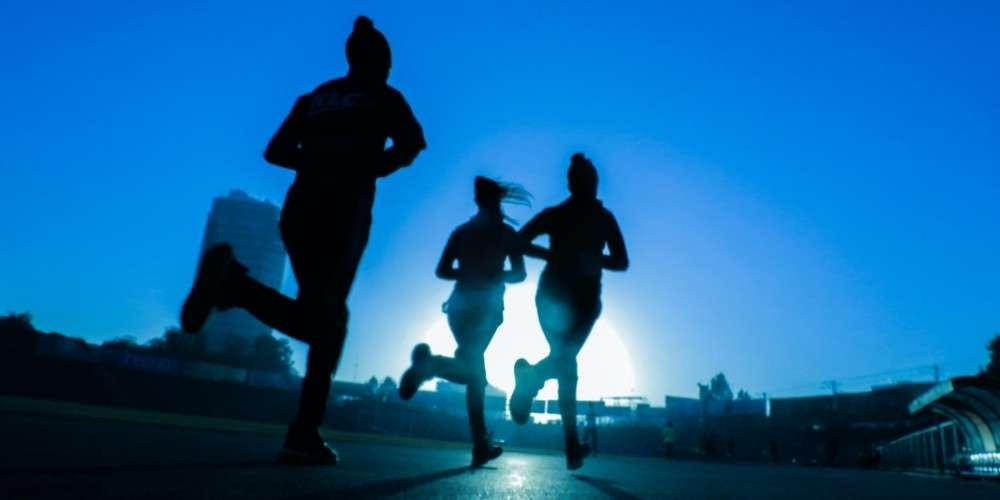 Joggen mit Laufuhr